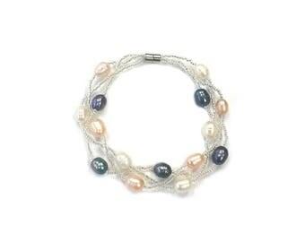Freshwater Pearl Magnetic Bracelet