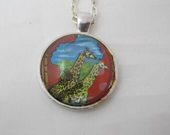 Giraffes Pendant Necklace