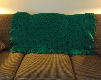 Holiday Green Accent throw