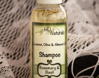 Rosemary Shampoo, Scalp Treatment, All Natural Shampoo, Vegan Shampoo, Coconut Shampoo, Natural Hair