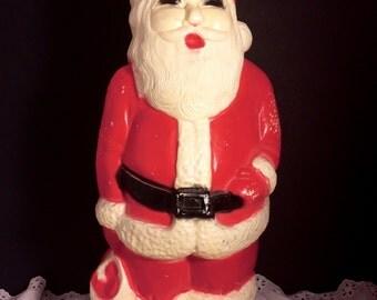 Vintage tabletop blow mold Santa