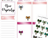 48 Bow Paperclip Icons: Multicolor