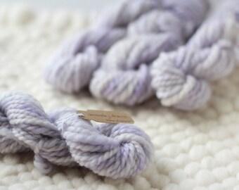 Lilac - Handspun Romney Wool Mini Skein for Weaving - 18 yds