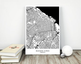 BUENOS AIRES City Map - DIGITAL Files - 5 Different Sizes
