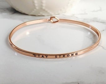 Stay Strong Bracelet  Etsy. Antique Vintage Rings. Black Crystal Necklace. Modest Engagement Rings. Gold Diamond Anniversary Band. Tortoise Pendant. Microcord Bracelet. Ethical Diamond Engagement Rings. Semi Precious Gemstone Beads