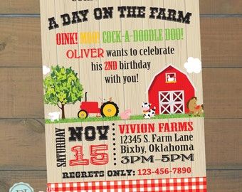 Farm Birthday Invitation | Farm Birthday Party | Barnyard Birthday | Petting Zoo Party | Farm Animals | Printable | The Party Darling