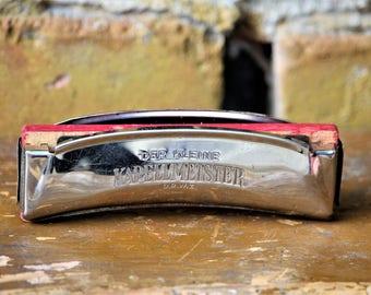 Rare Harmonica - Der Kleine Kapellmeister Harmonica - German Harmonica - Vintage Harmonica - Small Antique Harmonica - Birthday Gift