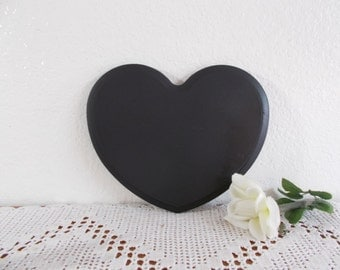 Black Chalk Board Heart Up Cycled Vintage Wood Chalkboard Romantic Country Cottage Chic Home Decor Spring Summer Fall Wedding Decoration
