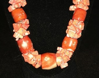 CLEARANCE Chunky Coral Necklace