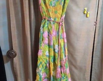 60's/70's Mod Flower Palazzo one piece