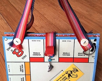 Monopoly game board purse