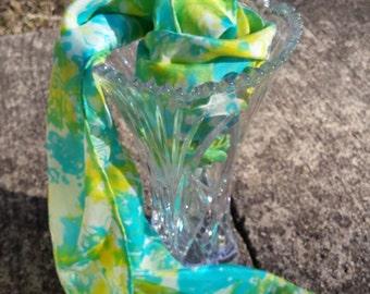 head wrap scarf/blue silk scarves/scarves silk green/scarves head/accessories scarves/scarves and wraps/silk scarf handmade/tie dyed scarves
