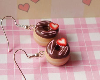 Scented Chocolate Frosted Donuts Earrings