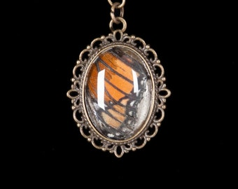 Real Monarch Butterfly Wing Pendant