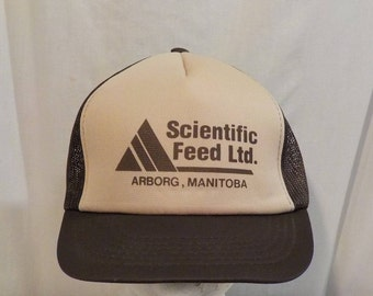 Scientific Feed LTD Arborg Manitoba Baseball Truckers Cap Hat SnapBack