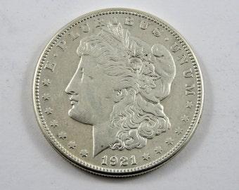 U.S. 1921 S Morgan Silver Dollar Coin.