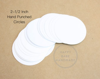 2.5 Inch Round Tag, White Paper Tags, Gift Tag, Die Cut Circles, Round Tags, Blank Tag, Price Tag, Bulk Tags, Paper Tags, Large Tags