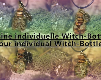 Individually crafted witch bottle