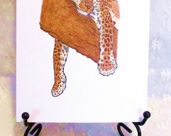 Leopard Note Card: Add a Greeting or Leave Blank