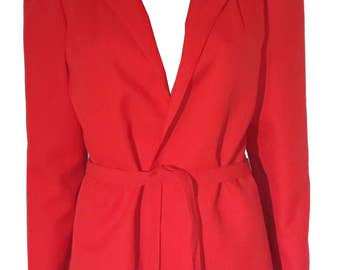 Vintage unmarked doubled red jacket size 42 UK 14 US 10