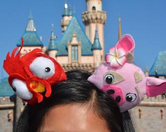 Moana Inspired Mouse Ears featuring Pua and HeiHei