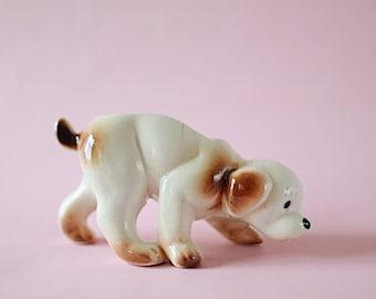 Vintage Dog Planter   Ceramic   Pot   Puppy Figurine   Mid Century Modern