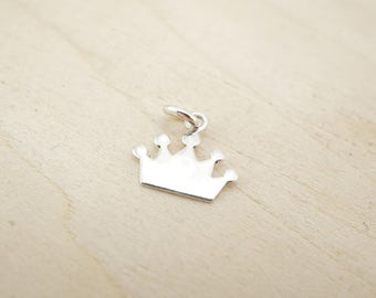 Sterling Silver Crown Blank - Sterling Silver Crown Charm - Sterling Silver Stamping Disc - Sterling Silver Stamping Blanks