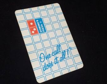Vintage Domino's Pizza Playing Cards from the 1980s- Promotional Card Deck- Restaurant Adversting or Premium- Fast Food Promo - ATC Supply