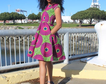 African print dress, Ankara dress, African clothing (Please read item details)