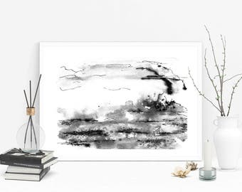 modern ink painting minimalist art abstract watercolor elegant watercolor landscape painting modern art print abstract landscape