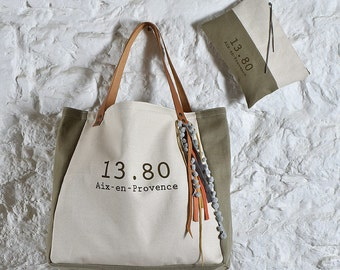 Tote M ivory taupe Collection CABA