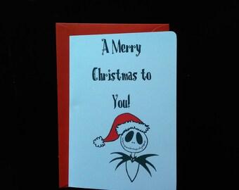 Disney Christmas Card - Jack Skellington,Nightmare before Christmas