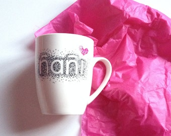 Cups custom painted by hand. Cups. Mugs. Mug with name. Cup breast. Cup design. Gifts personalized. Ceramic mug