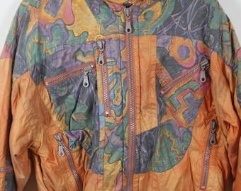 Vintage RODEO jacket 90s apricot ski snowboard winter