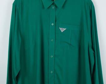 Vintage shirt, 80s clothing, shirt 80s, long sleeves, oversized