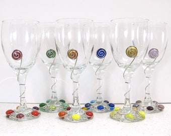 one beaded wine glass wire rapped wine glass colorful wine glass unique wine