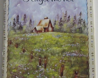 How to paint.  Art instruction book.  Forget-me-not, Book 1
