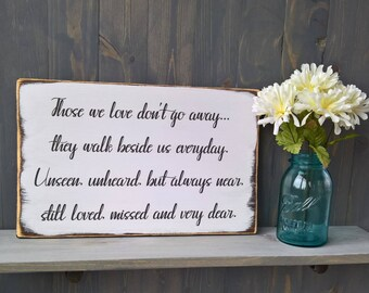 Memorial sign - loved ones in heaven - memorial sign for wedding - in memory of wedding - in memory of mom - in memory of dad