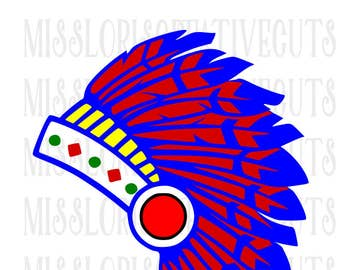 Indian head dress SVG   cut file  t-shirtsscrapbook vinyl decal wood sign cricut cameo Commercial use