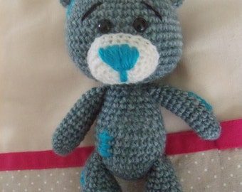 Gray cub patched crochet