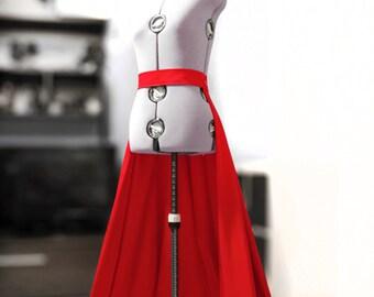 Detachable red overskirt Chapel train Wedding gown skirt Dress overskirt Red ball gown Circle skirt Ball skirt Prom Red train Prom skirt