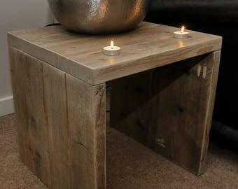 St Ives -Reclaimed Timber Side Table -handmade & Bespoke