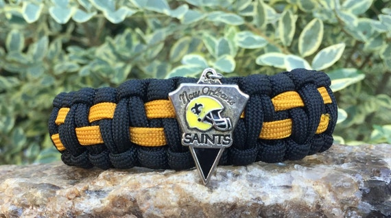 New Orleans Saints Paracord Bracelet , 550 paracord weaved in many colors