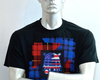 Yankee Doodle Dalek - Dalek T-shirt - Dr Who - Stars and Stripes Shirt - Sci-fi Shirt - Gifts for Geeks - Graphic Tees - Mens tshirts