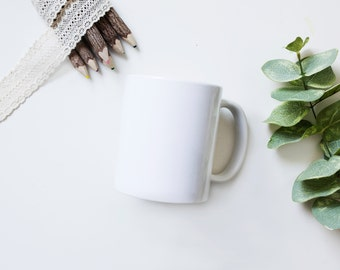 Coffee Mug Styled Stock Photography, Styled Mug Mockup, 11oz Mug, Your Design Here