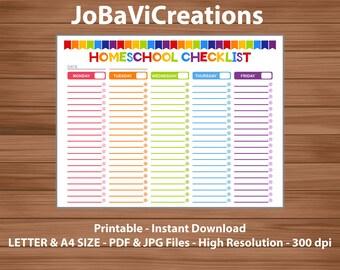 homeschool daily schedule template