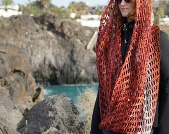 "FishNet Infinity ""Fall"" / Circular scarf"