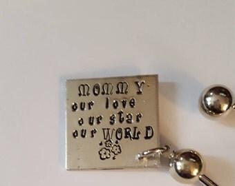 Mothers Day Gift for Mommy //Keyring Keepsake for Mommy .// Gift for Step Mommy too !