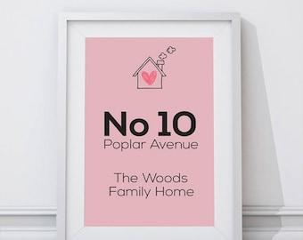 Custom Family Home Print - Personalised print - Home Decor - Wall Art Print