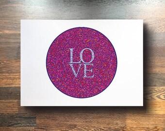 LOVE Prints (blue background)